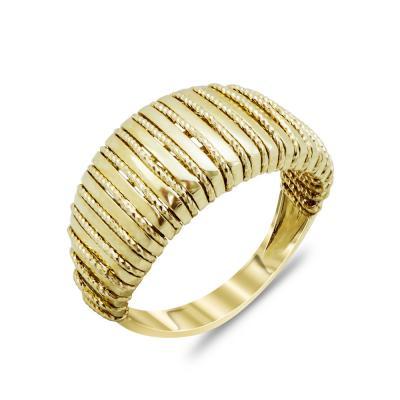 Δαχτυλίδι Μοντέρνο Από Κίτρινο Χρυσό Κ14 DX91980