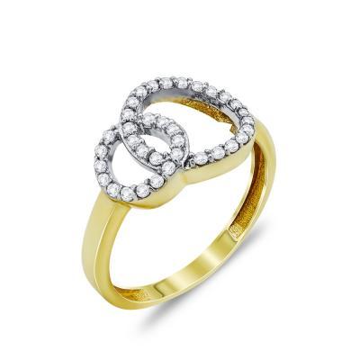 Δαχτυλίδι Με Κύκλους Από Κίτρινο Χρυσό Κ14 DX69843