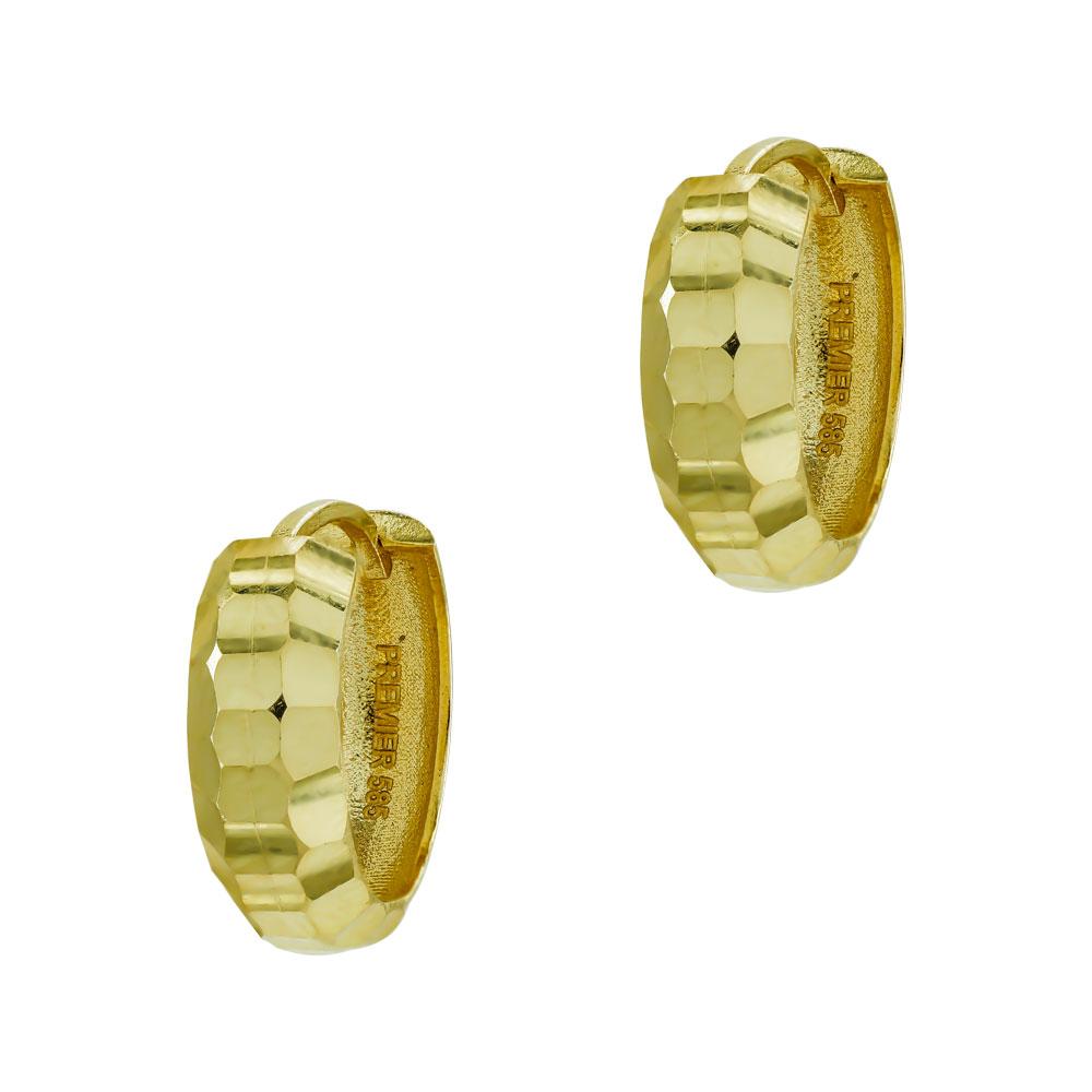 Σκουλαρίκια Kρικάκια Από Κίτρινο Χρυσό Κ14 SK00028