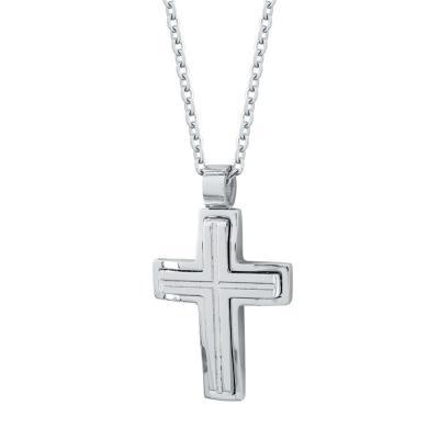 Visetti Ανδρικός Σταυρός από Ατσάλι AST191