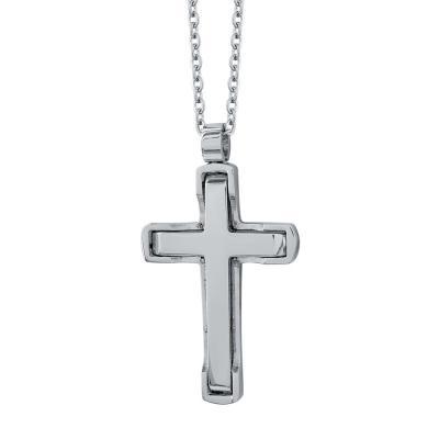 Visetti Ανδρικός Σταυρός από Ατσάλι AST196