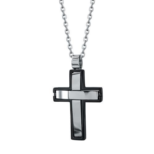 Visetti Ανδρικός Σταυρός από Ατσάλι AST187