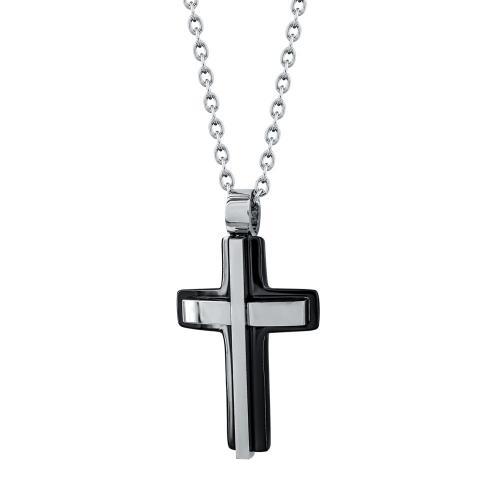 Visetti Ανδρικός Σταυρός από Ατσάλι AST199