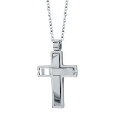 Visetti Ανδρικός Σταυρός από Ατσάλι AST192