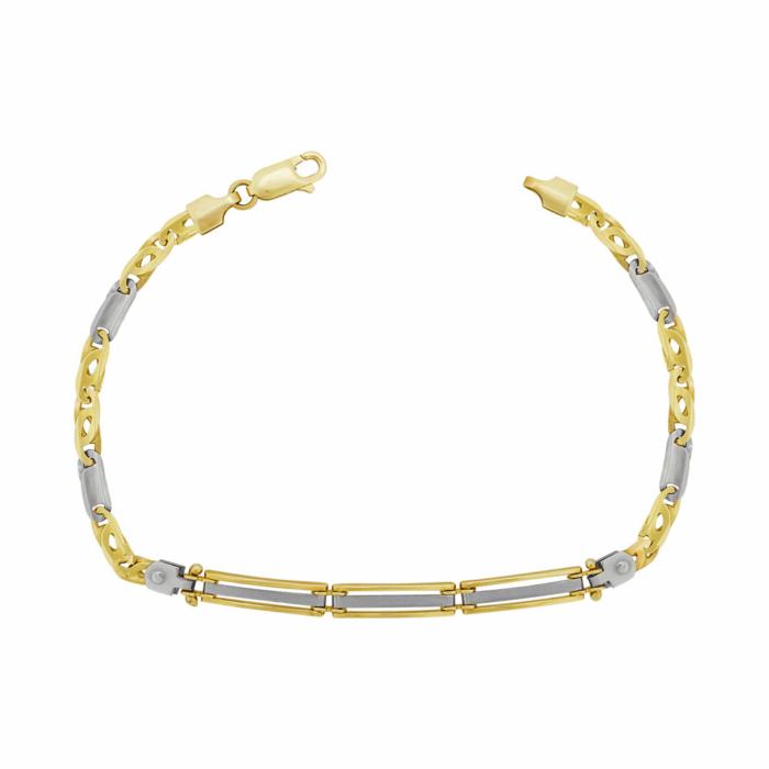 Ανδρικό Βραχιόλι Από Κίτρινο Χρυσό Κ14 AVR209