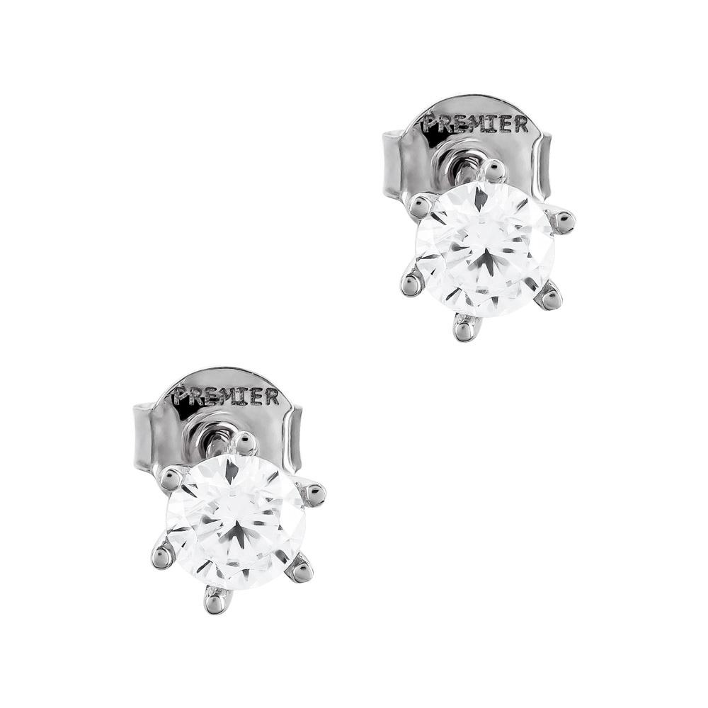 Σκουλαρίκια Με Πέτρες Από Λευκόχρυσο Κ14 SK02712