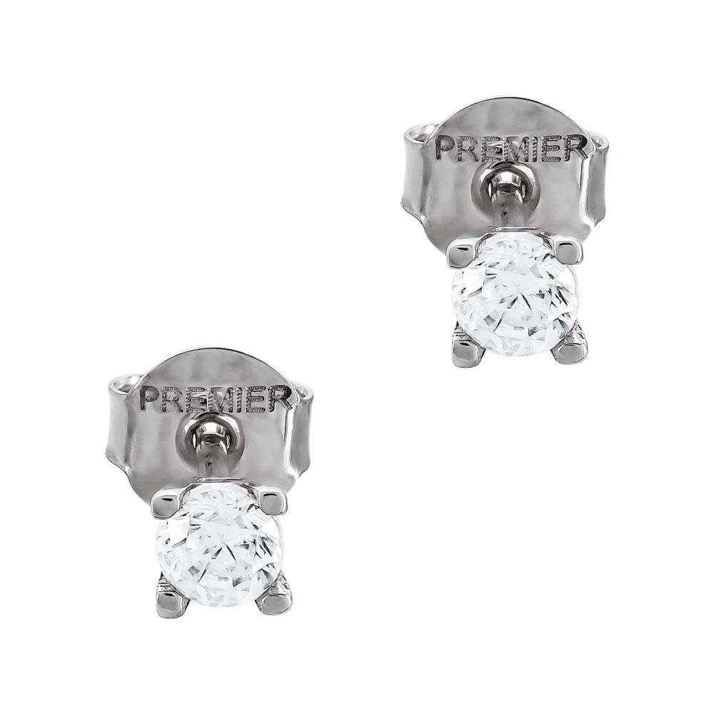 Σκουλαρίκια Με Πέτρες Από Λευκόχρυσο Κ14 SK05016