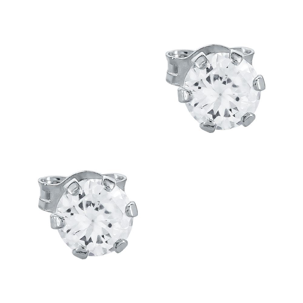 Σκουλαρίκια Με Πέτρες Από Λευκόχρυσο Κ14 SK81378