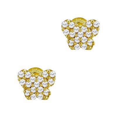 Σκουλαρίκια Πεταλούδα Από Κίτρινο Χρυσό Κ9 SK73996