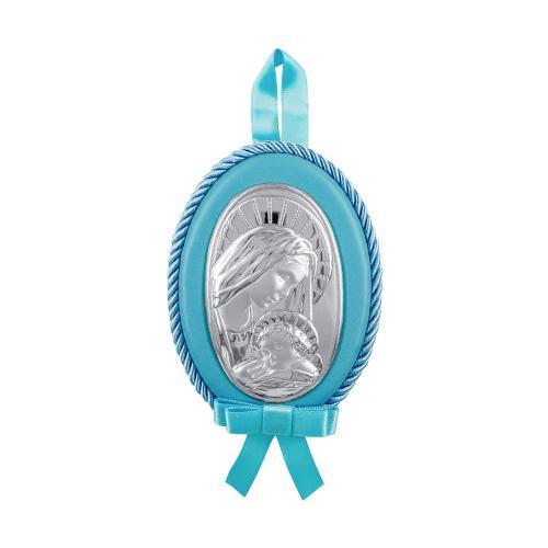 Princelino Γαλάζια Εικόνα Κούνιας Για Αγόρι Από Ασήμι MB/D514-C