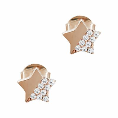 Σκουλαρίκια Aστεράκια Από Ροζ Χρυσό Κ14 SK05023