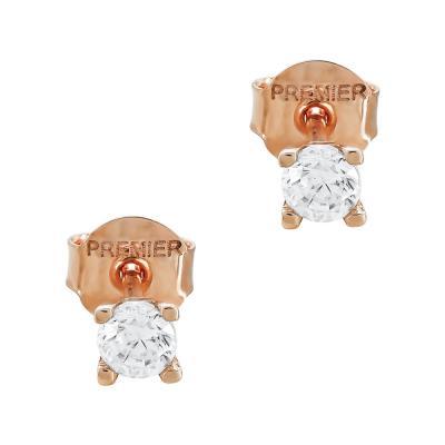 Σκουλαρίκια Με Πέτρες Από Ροζ Χρυσό Κ14 SK05085