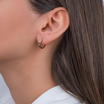 Σκουλαρίκια Kρικάκια Από Ροζ Χρυσό Κ14 SK00399