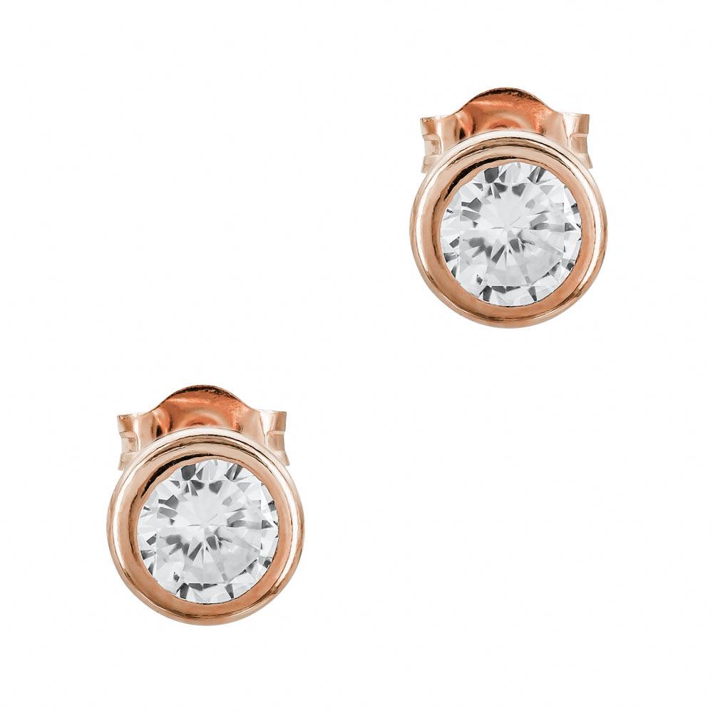 Σκουλαρίκια Με Πέτρες Από Ροζ Χρυσό Κ14 SK01378