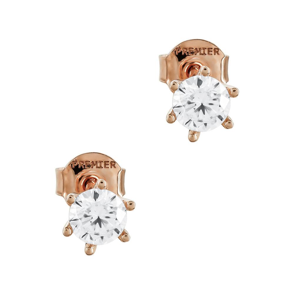Σκουλαρίκια Με Πέτρες Από Ροζ Χρυσό Κ14 SK02692