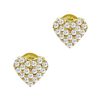 Σκουλαρίκια Kαρδούλα Από Κίτρινο Χρυσό Κ9 SK73993
