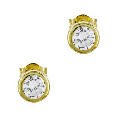 Σκουλαρίκια Με Πέτρες Από Κίτρινο Χρυσό Κ14 SK01375
