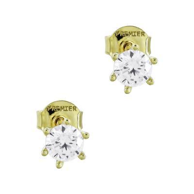 Σκουλαρίκια Με Πέτρες Από Κίτρινο Χρυσό Κ14 SK02711
