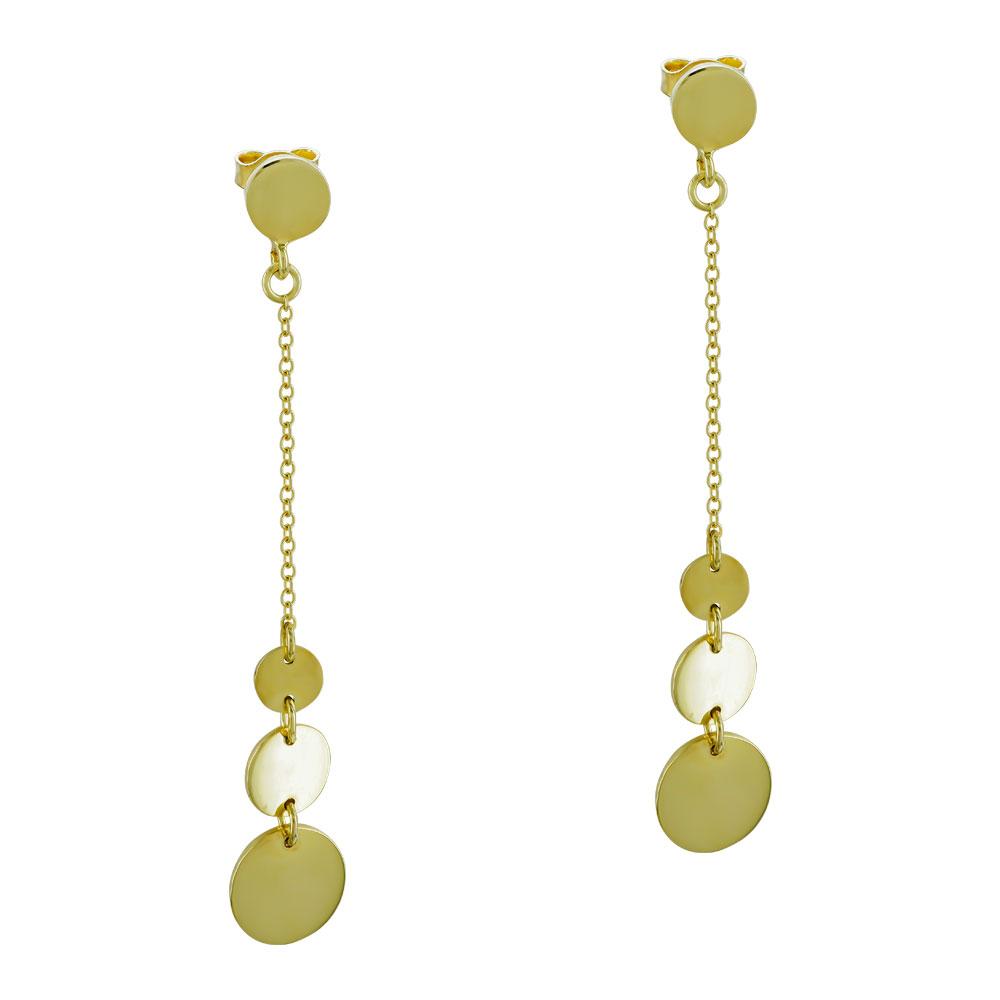 Σκουλαρίκια Kρεμαστά Από Κίτρινο Χρυσό Κ9 SK96159