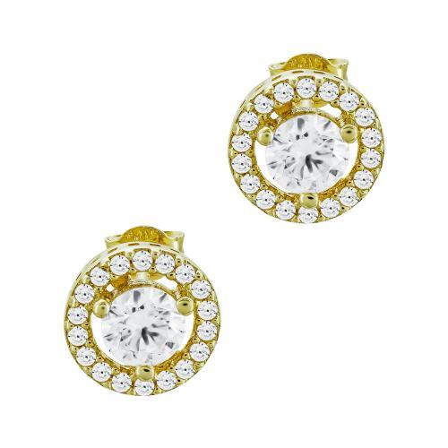Σκουλαρίκια Με Πέτρες Από Κίτρινο Χρυσό Κ14 SK99716