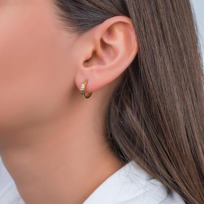 Σκουλαρίκια Kρικάκια Από Κίτρινο Χρυσό Κ14 SK00615