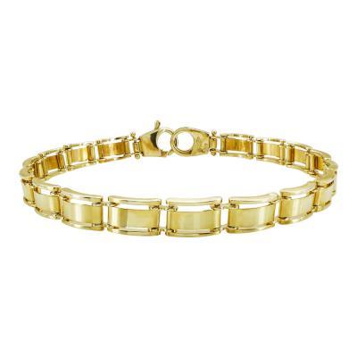 Ανδρικό Βραχιόλι Από Κίτρινο Χρυσό Κ14 AVR200