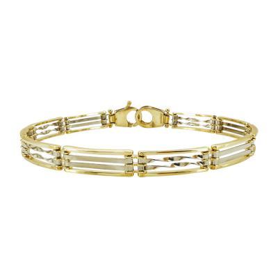 Ανδρικό Βραχιόλι Από Κίτρινο Χρυσό Κ14 AVR207