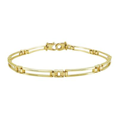 Ανδρικό Βραχιόλι Από Κίτρινο Χρυσό Κ14 AVR196
