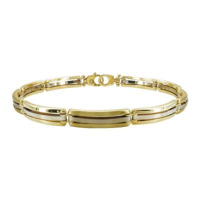 Ανδρικό Βραχιόλι Από Κίτρινο Χρυσό Κ14 AVR202