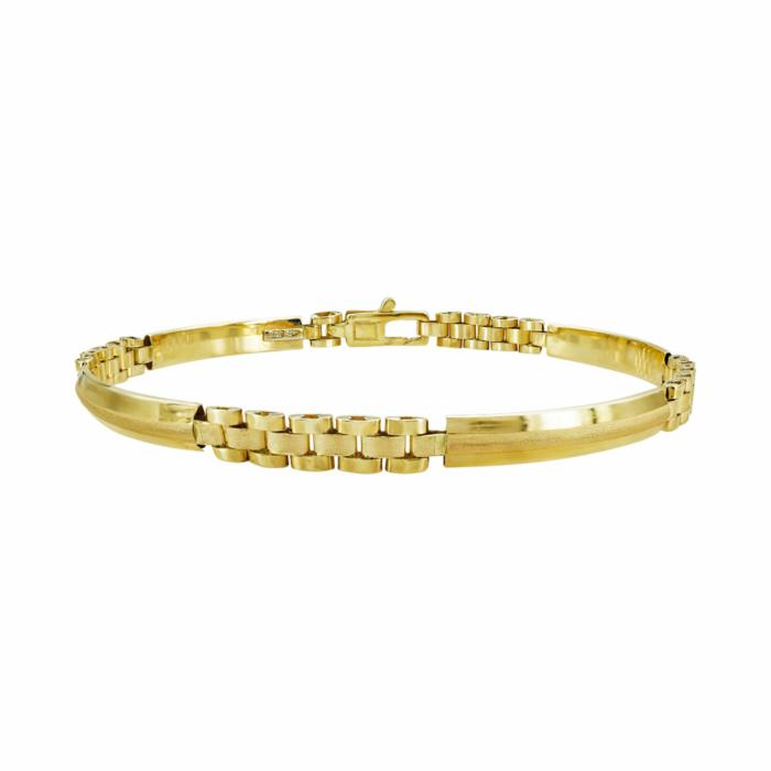 Ανδρικό Βραχιόλι Από Κίτρινο Χρυσό Κ14 AVR208