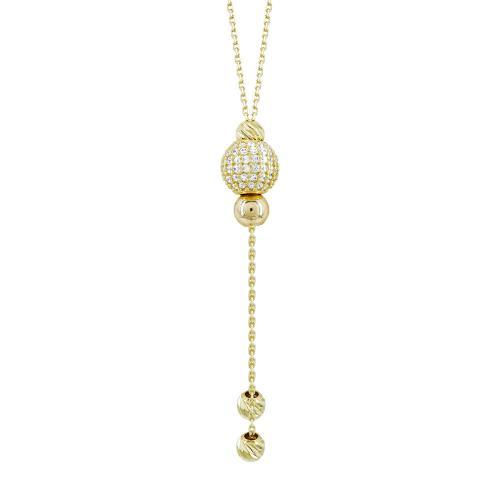 Κολιέ Με Πέτρες Από Κίτρινο Χρυσό Κ14 KL98050