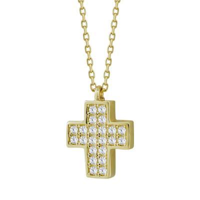 Σταυρουδάκι Μενταγιόν Από Κίτρινο Χρυσό Κ14 STM86721