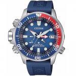 CITIZEN Promaster Eco-Drive Marine Aqualand Blue Rubber Strap BN2038-01L