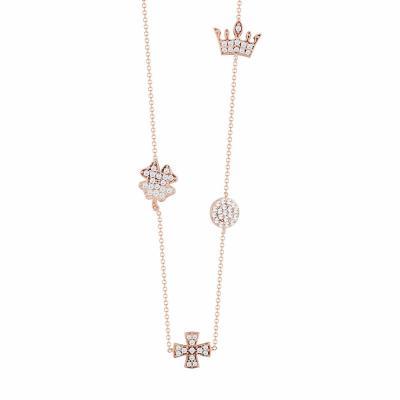 Μενταγιόν Με Σχεδιάκια Από Ροζ Χρυσό Κ9 M92304
