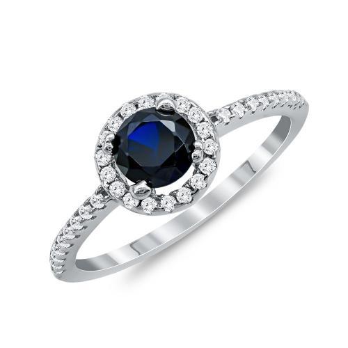 Δαχτυλίδι Μονόπετρο Mε Μαύρη Πέτρα Από Ασήμι DX828