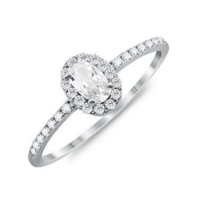 Δαχτυλίδι Μονόπετρο Mε Πέτρες Από Ασήμι DX834