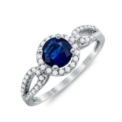 Δαχτυλίδι Μονόπετρο Mε Μπλε Πέτρα Από Ασήμι DX830