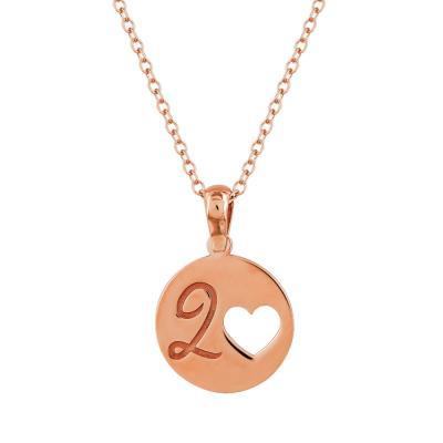 Κολιέ Γούρι Κύκλος 2020 από Ροζ Επιχρυσωμένο Ασήμι GR396