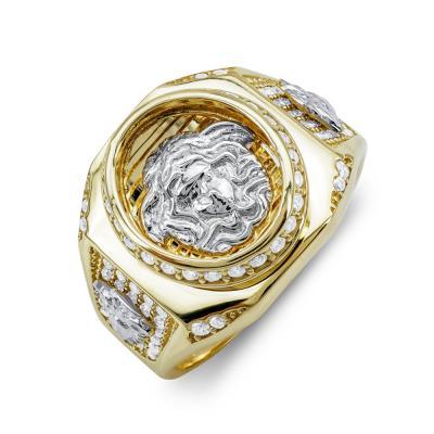 Ανδρικό Δαχτυλίδι από Δίχρωμο Χρυσό Κ14 ADX155