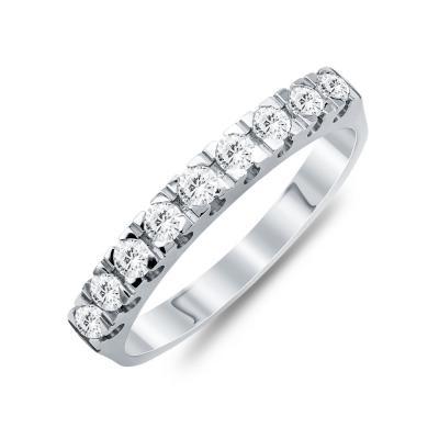 Σειρέ Δαχτυλίδι Με Διαμάντια Brilliant Aπό Λευκό Χρυσό Κ18 R21606