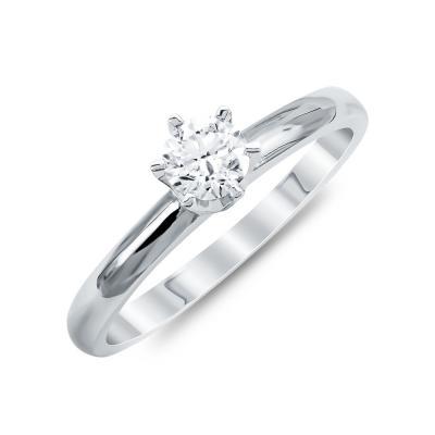 Mονόπετρο Δαχτυλίδι Με Διαμάντια Brilliant Aπό Λευκό Χρυσό Κ18 R24139