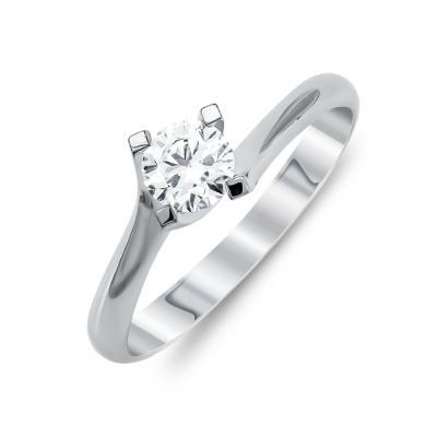 Mονόπετρο Δαχτυλίδι Με Διαμάντια Brilliant Aπό Λευκό Χρυσό Κ18 R25720