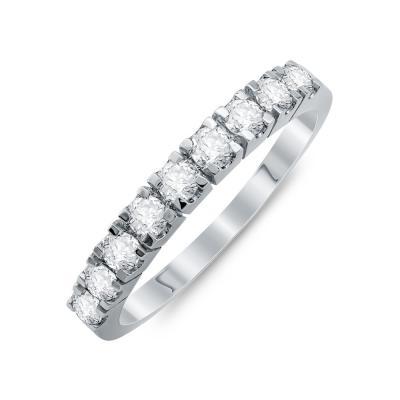 Σειρέ Δαχτυλίδι Με Διαμάντια Brilliant Aπό Λευκό Χρυό Κ18 R20174