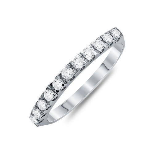 Σειρέ Δαχτυλίδι Με Διαμάντια Brilliant Aπό Λευκό Χρυσό Κ18 R23117
