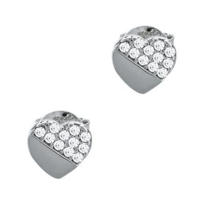 Σκουλαρίκια Με Πέτρες Από Λευκό Χρυσό Κ14 SK05069