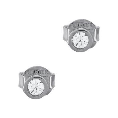 Σκουλαρίκια Με Πέτρες Από Λευκό Χρυσό Κ14 SK02724