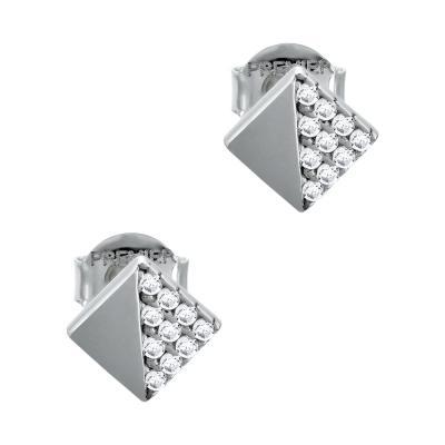 Σκουλαρίκια Με Πέτρες Από Λευκό Χρυσό Κ14 SK05180