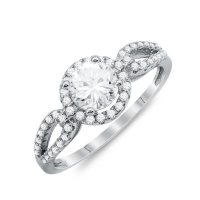 Δαχτυλίδι Μονόπετρο Mε Πέτρες Από Ασήμι DX829