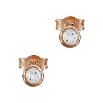 Σκουλαρίκια Με Πέτρες Από Ροζ Χρυσό Κ14 SK01377