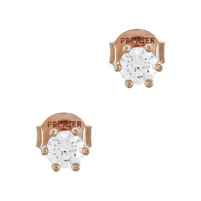 Σκουλαρίκια Με Πέτρες Από Ροζ Χρυσό Κ14 SK02713